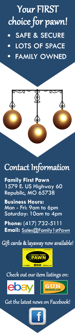 Family First Pawn - Your first choice for pawn.